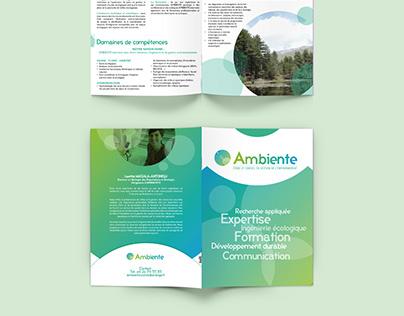 "Logo and leaflet for ""Ambiente"" - environmental bureau"
