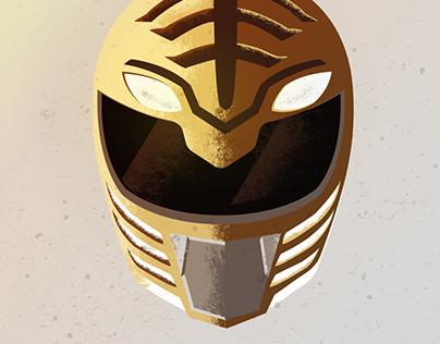 Mighty Morphin Power Rangers Helmet Illustrations