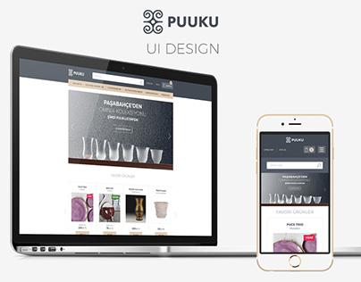 Puuku.com UI design