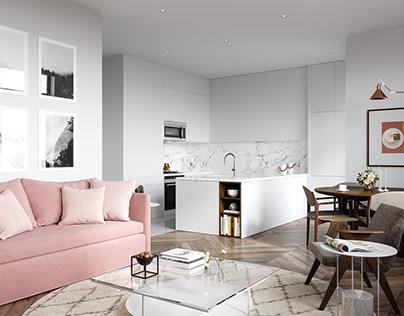 Small apartment interior.