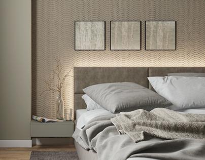Bedroom Beige & Gray