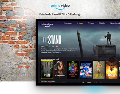 Estudo de caso UX/UI - Amazon Prime Video