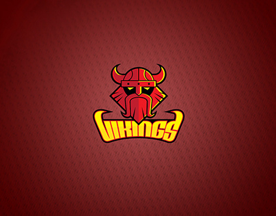 "Swan Active Jr. Basketball ""VIKINGS"" Team Logo Design"