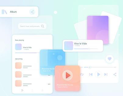 UI Practice - Music Player Elements