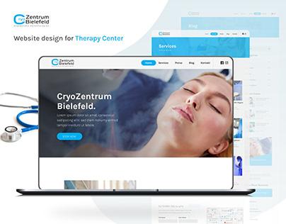 Cryozentrum Website UI Design