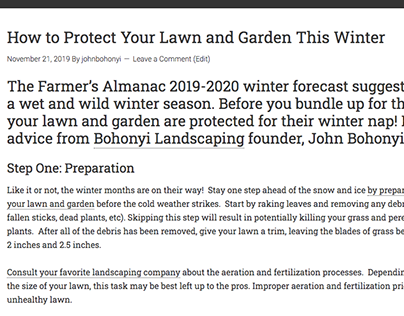 Winter Lawn Care (blog post)