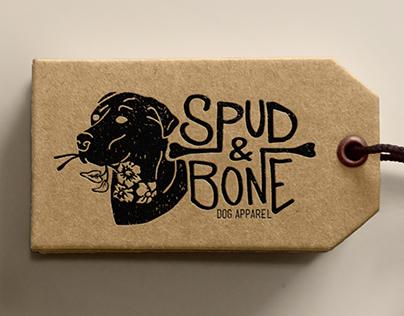 Spud & Bone Dog Apparel logo/branding