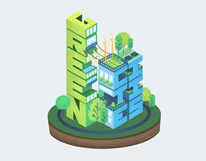 Green Cities (Editorial Illustration)