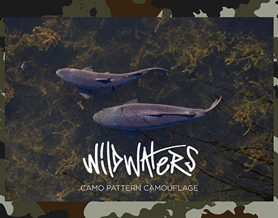 WildWaters Camouflage - Textile Design print