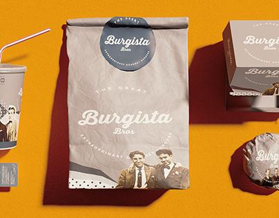 Packaging brand identity :Burgista Bros