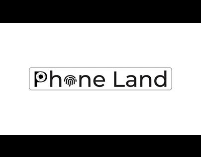 Phone Land Logo | Typography Logo