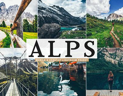 Free Alps Mobile & Desktop Lightroom Preset