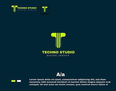 T letter logo dessign/ techno studio logo