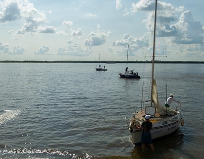 Start regatta Khabarovsk - Fuyuan