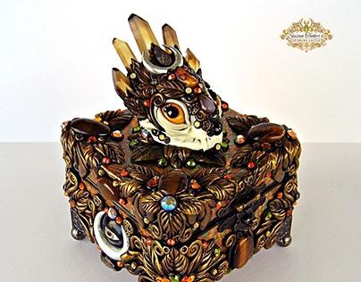 THE PROTECTRESS BASTET Cat Skull Altar Box