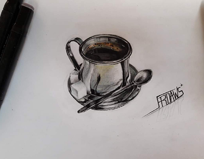 3D DRAWING | CUP OF COFFEE ||