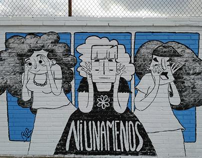 """Mural painting """"Ni una menos"""""""