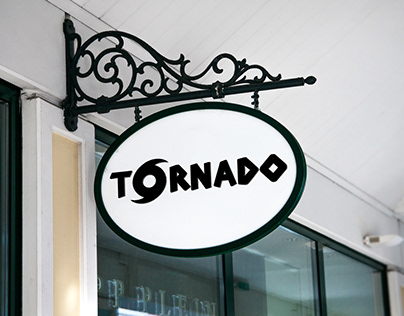 Tornado Cafe Logo Design & Mockup