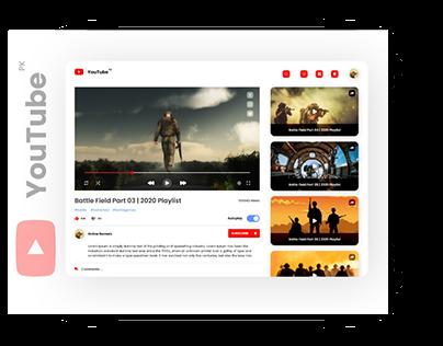 Youtube Redesign UIUX