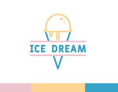 ICE DREAM Ice Cream : Logo Design