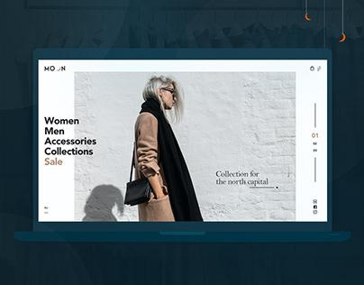 Online fashion store website concept