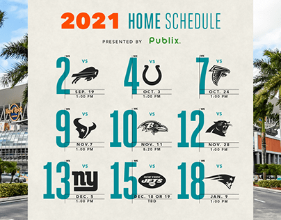 Miami Dolphins: 2021 Schedule Release