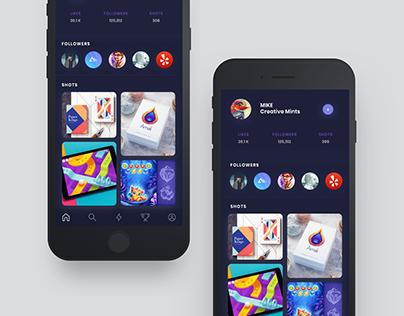 Apps Exploration Concept (user profile)