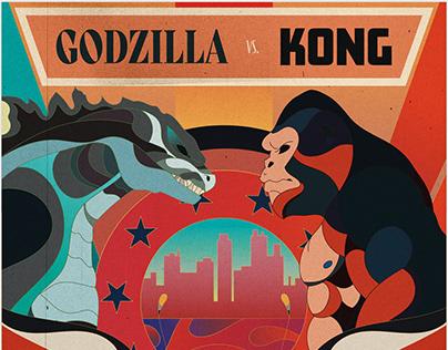 Godzilla vs Kong: Poster illustration