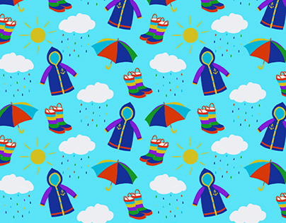 Weather print Seamless design
