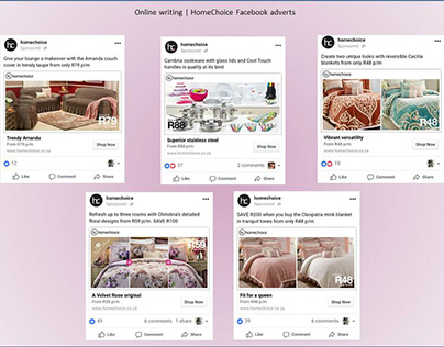 Copywriting for Social Media - HomeChoice Facebook Ads