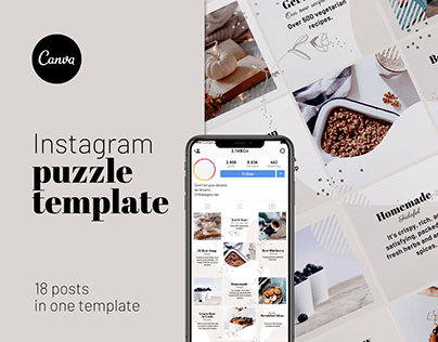 Instagram Puzzle grid CANVA Template