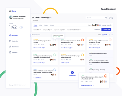 Dashboards for Time Tracking and Task Management