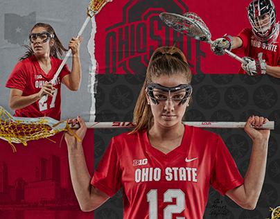Ohio State Buckeyes Women's Lacrosse Schedule Poster
