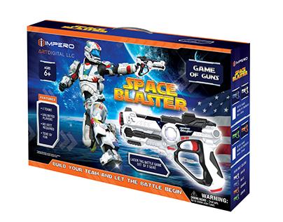 Packing for children's blaster.