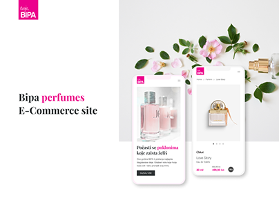 Bipa perfumes E-Commerce website