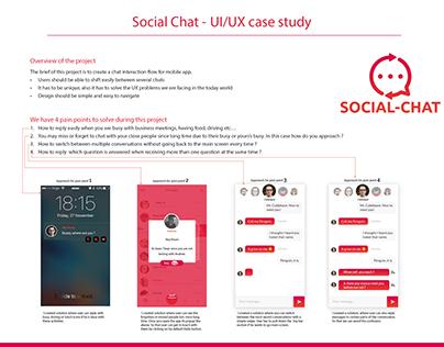 UI/UX Case study for Social Chat mobile app