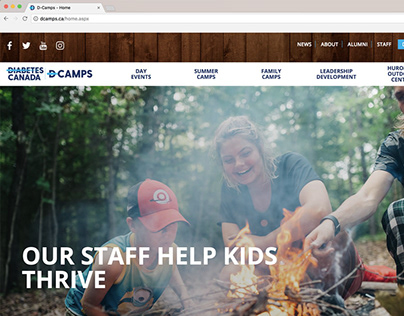 CDA D-Camps website rebuild
