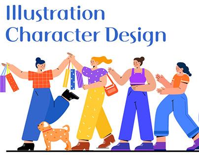 Flat character illustration design