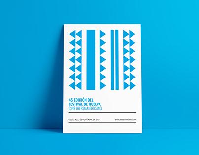 Cartel a concurso para el Festival de cine de Huelva