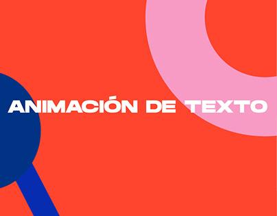 Animación de texto