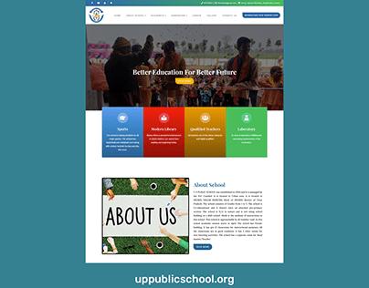 WordPress website for UP Public School