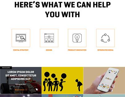 A digital marketing agency - Landing Page - Mobile UXUI