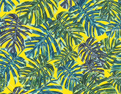 Tropical Monstera Leaves - Seamless Pattern