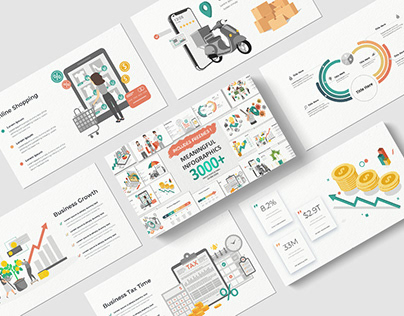 FREE - Meaningful Infographics PowerPoint Template!