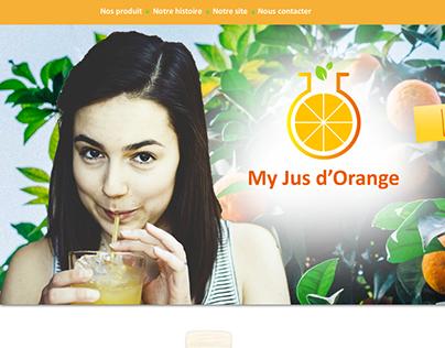 """Landing Page """"My Jus d'Orange"""""""