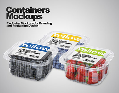 Containers Mockups PSD