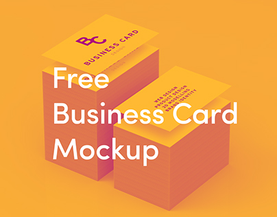 Free Business Card Mockup - High Quality
