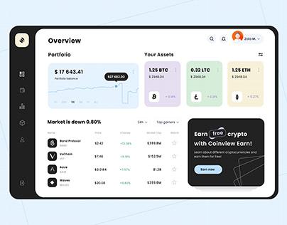 Crypto Wallet UI design
