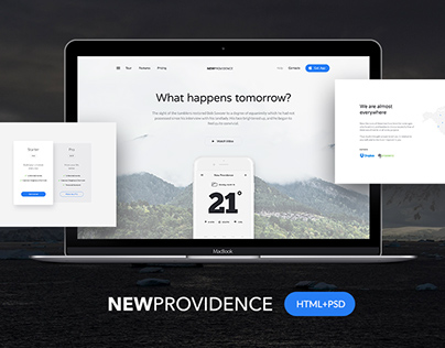 New Providence HTML+PSD Freebie