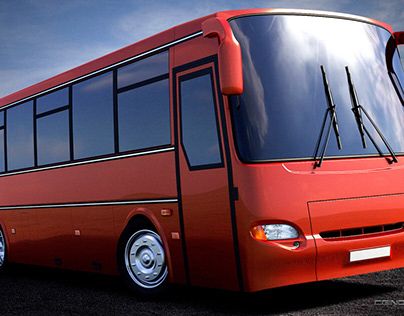 3d modelling and visualization of bus KAVZ Avrora